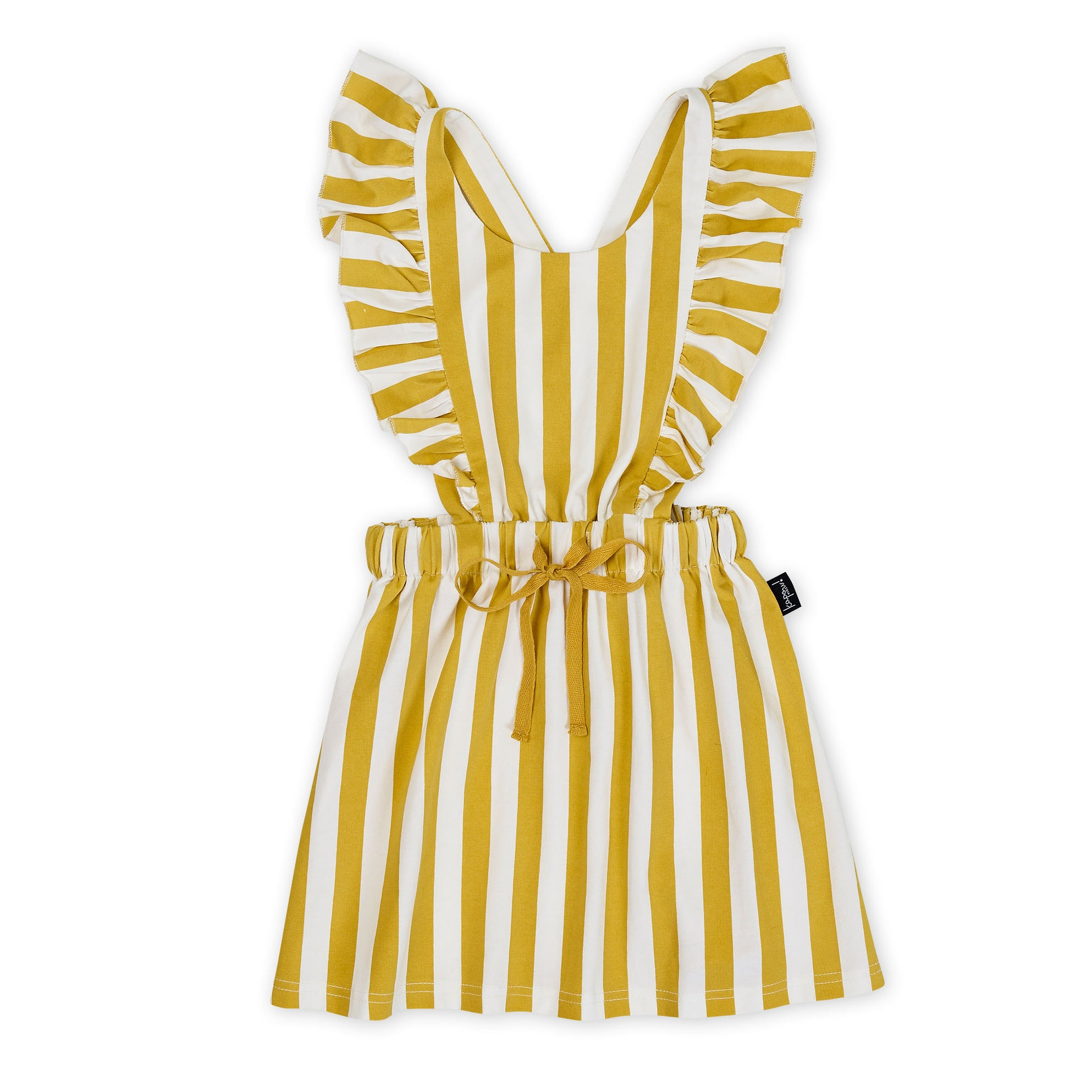 Honeycomb Stripe Ruffle Pinafore