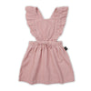 Dusty Rose Ruffle Corduroy Pinafore