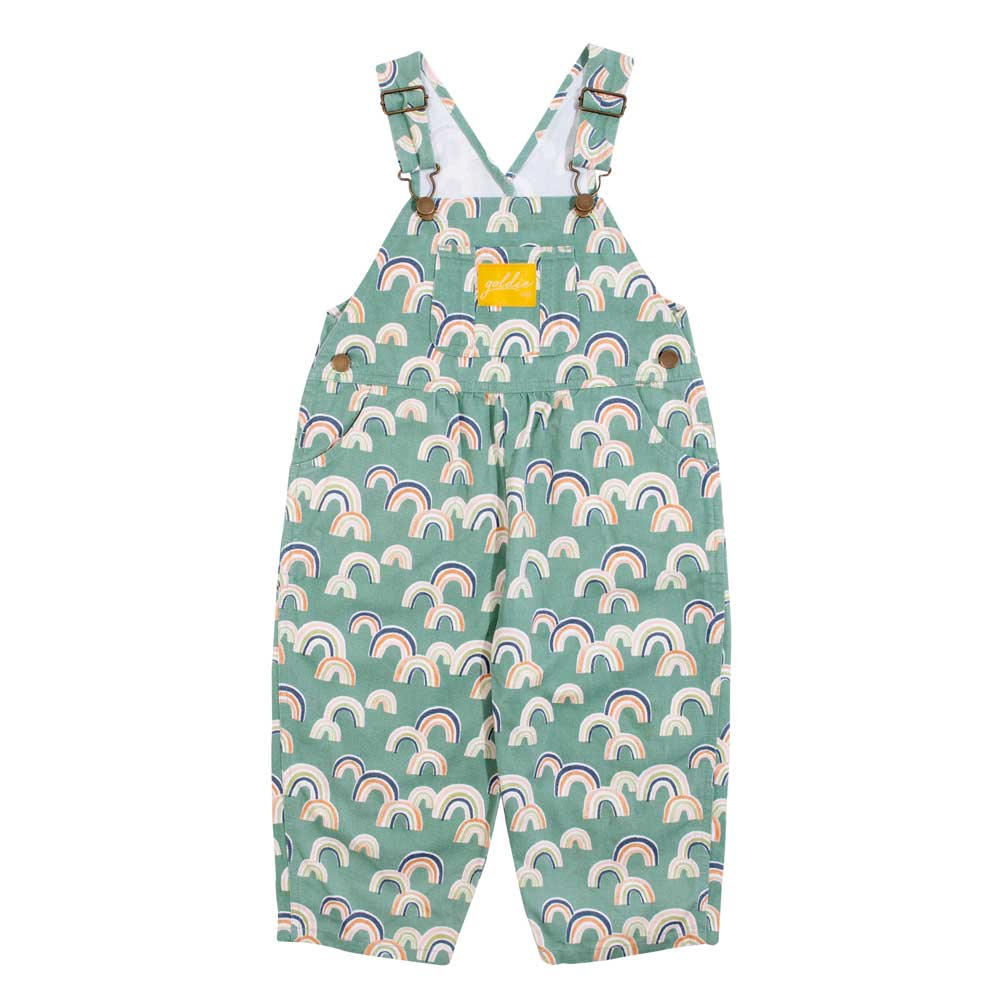 Ace Drill Cotton Overalls Green Rainbows