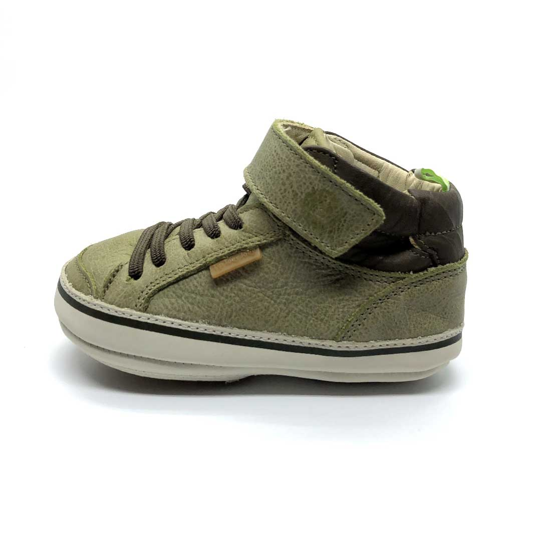 Alley High Top Toddler Boots Olive Brush