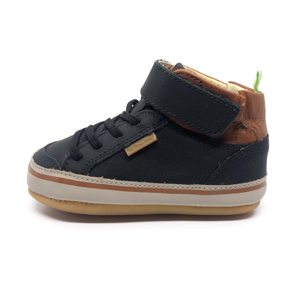 Alley High Top Toddler Boots Black Ochre