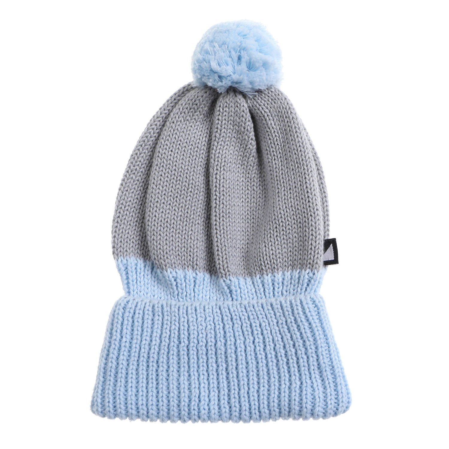 Glacier Blue/Grey Chunky Knitted Baby Beanie