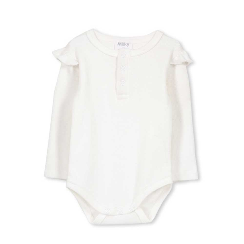 Basic Baby Onesie Off White