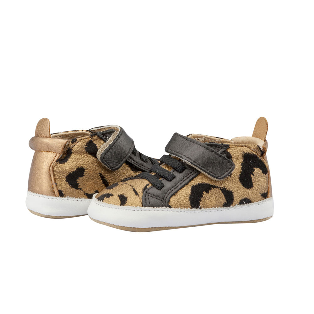 Cat Baby Shoe Gold/Black