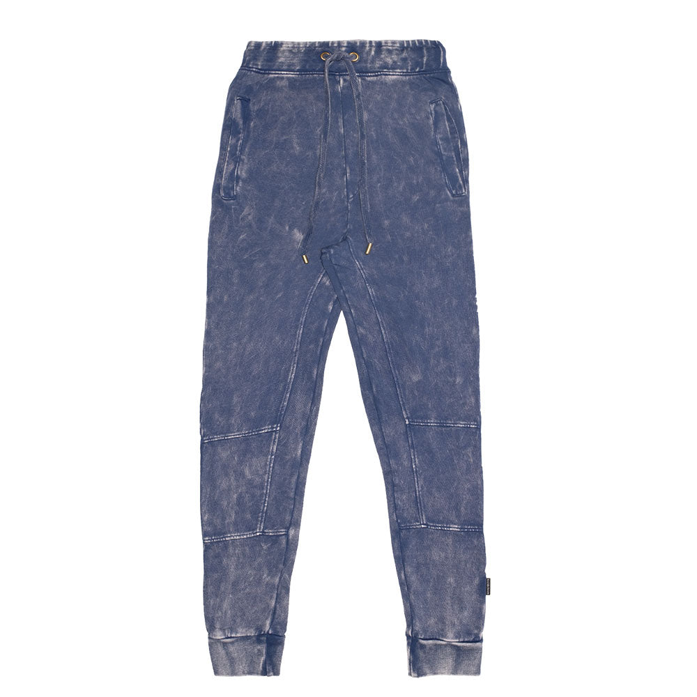 Organic Panel Trackies Vintage Blue