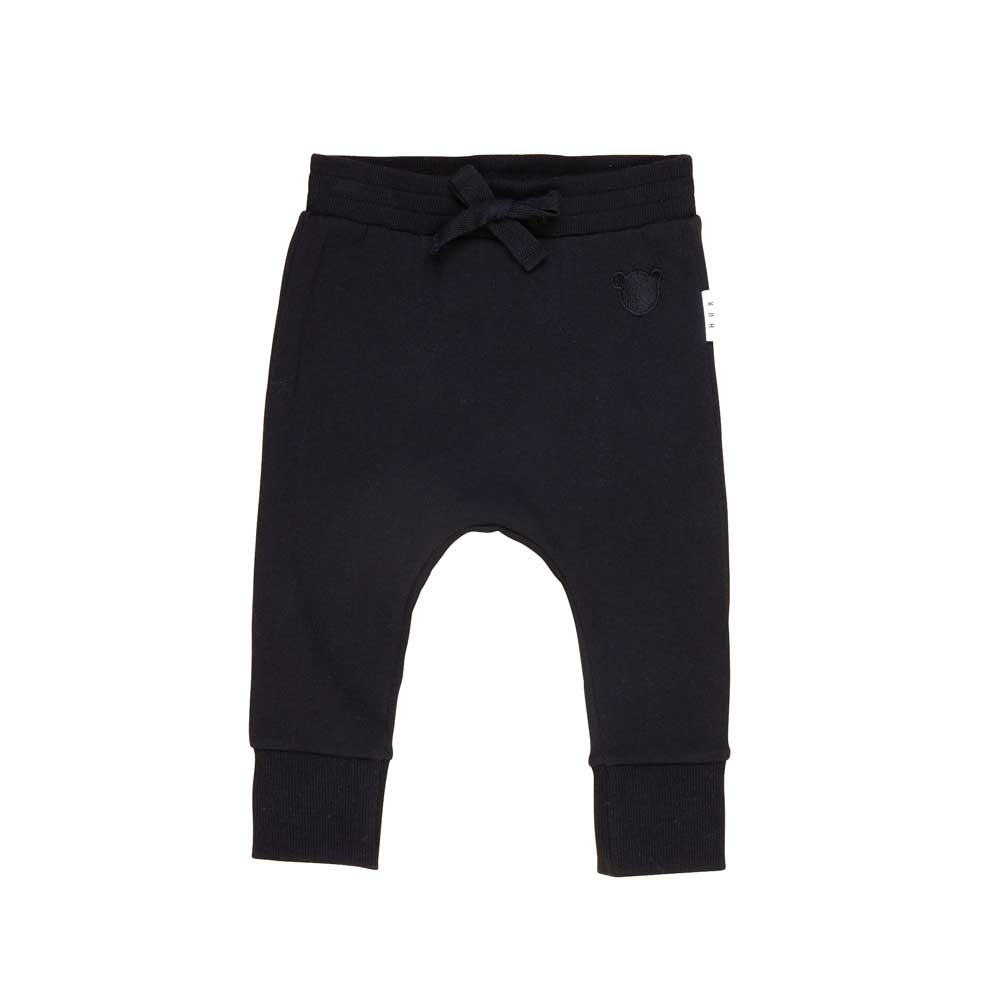 Black Drop Crotch Fleece pant