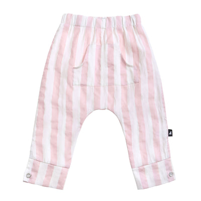 Block Stripe Pocket Pants Blush