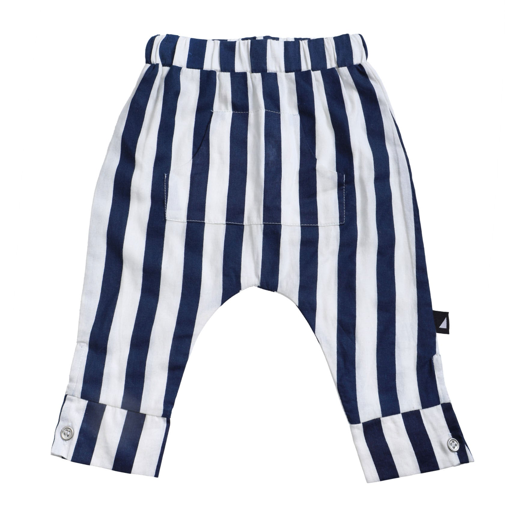 Block Stripe Pocket Pants Navy