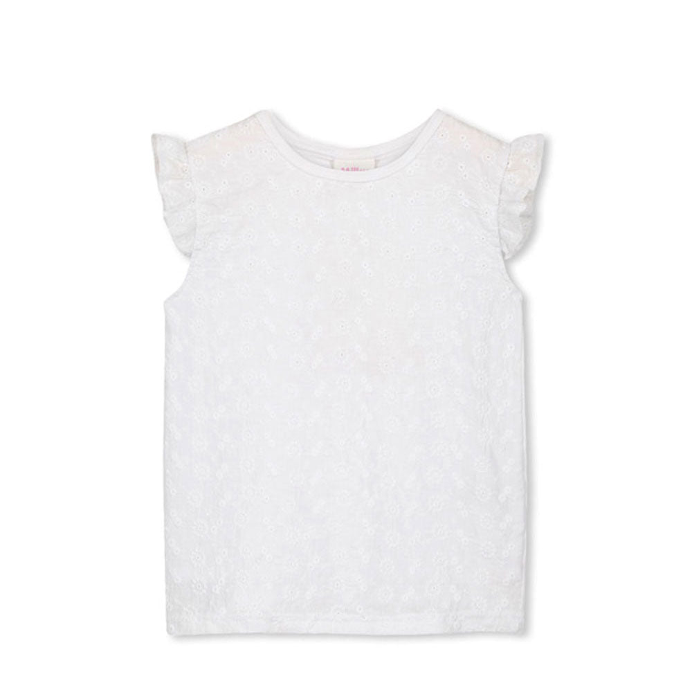 Broderie Front Tee