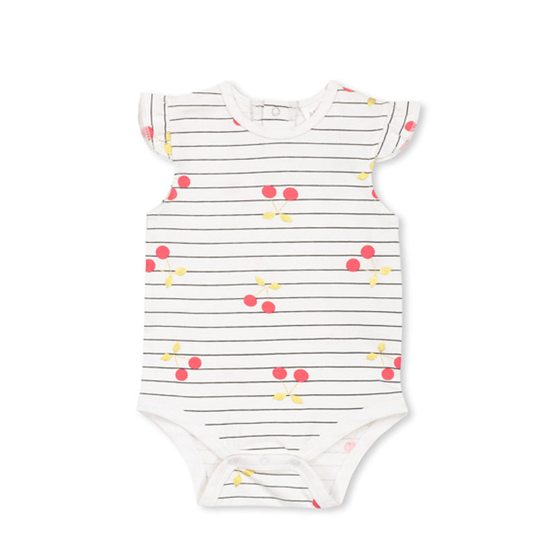 Cherry Stripe Bubbysuit