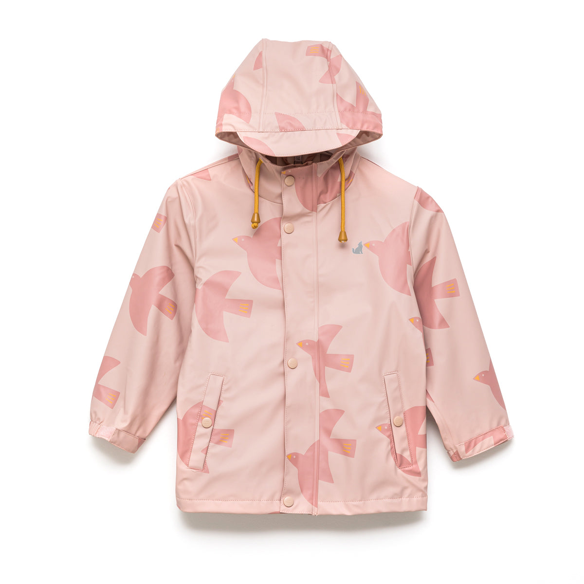 Girls Play Rain Jacket Birds