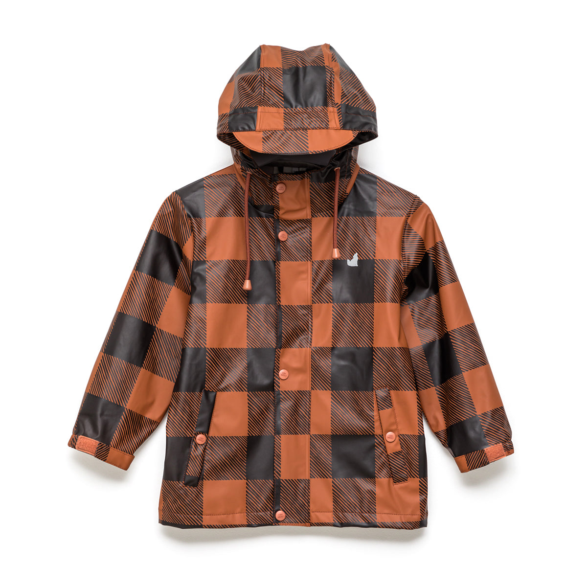 Kids Play Rain Jacket Rust Plaid