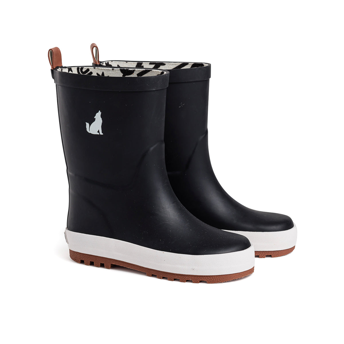 Kids Black Gumboot