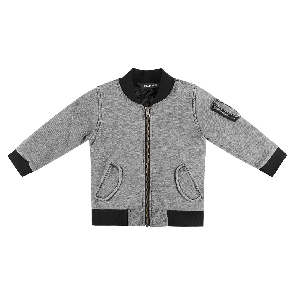 Cade Bomber Acid Grey