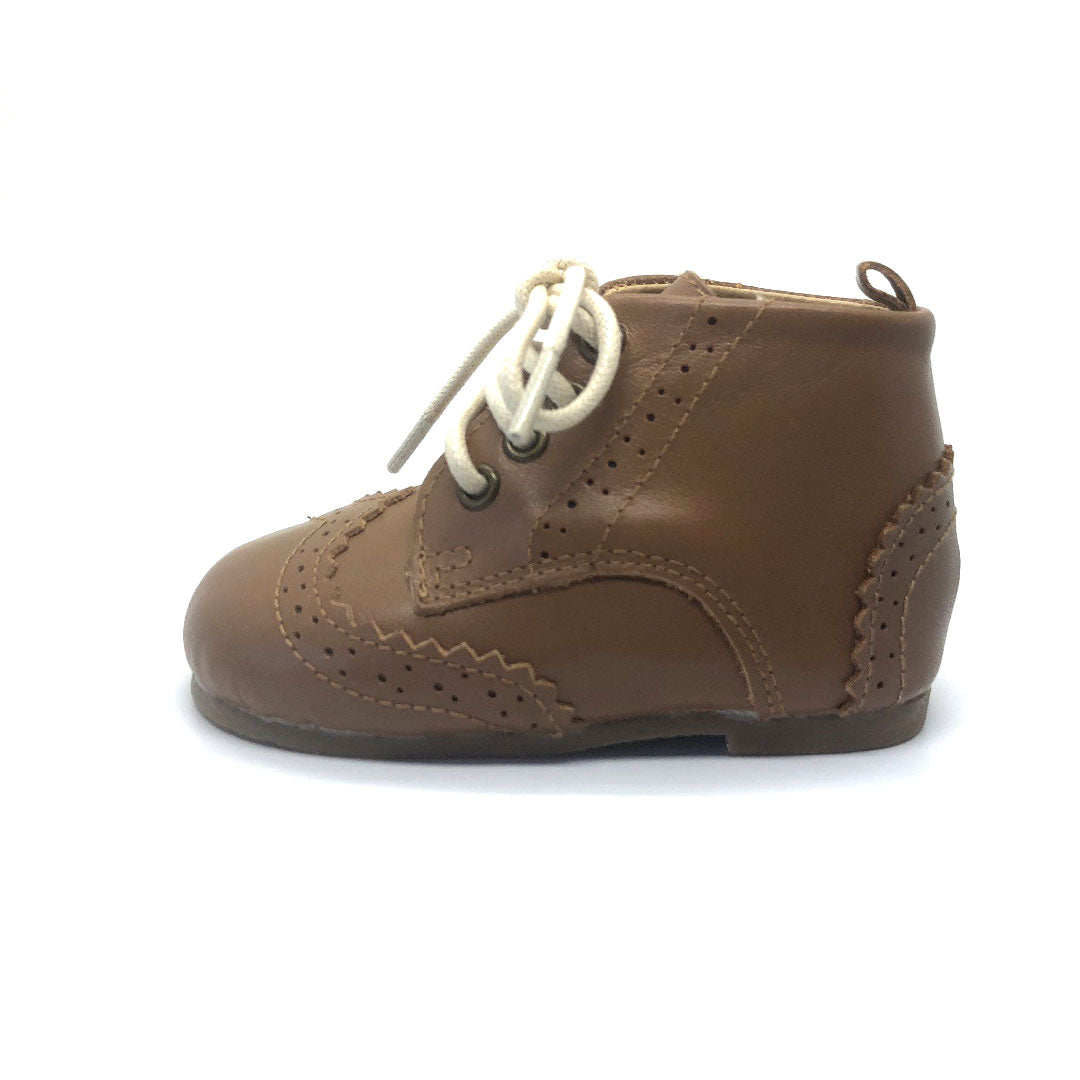 Cambridge Brogue Toddler Boots Chestnut