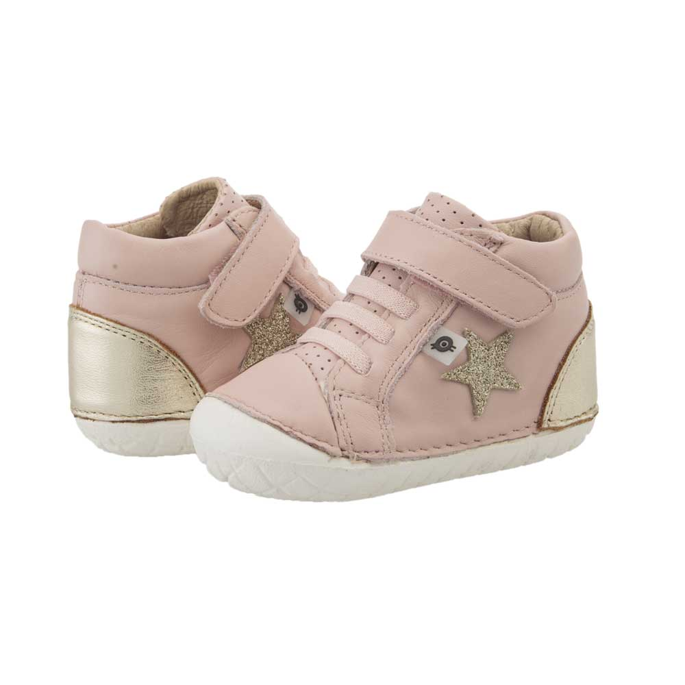 Champster Pave Toddler High Top Pink/Gold