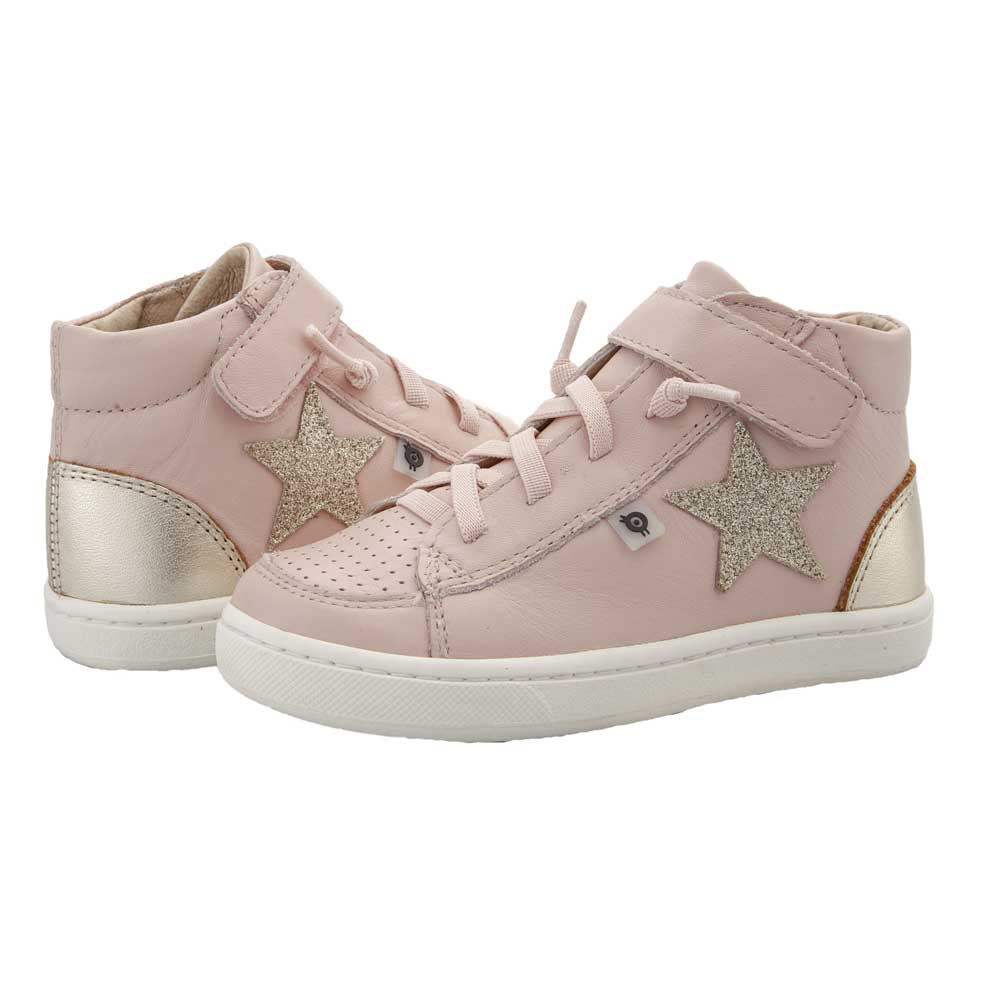 Champster Girls High Top Powder Pink/Gold