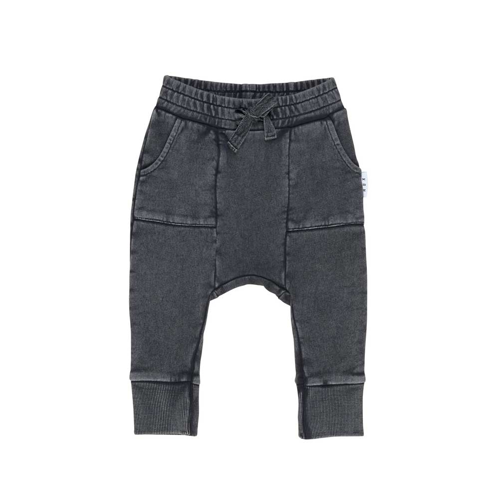 Charcoal Pocket Drop Crotch Pant