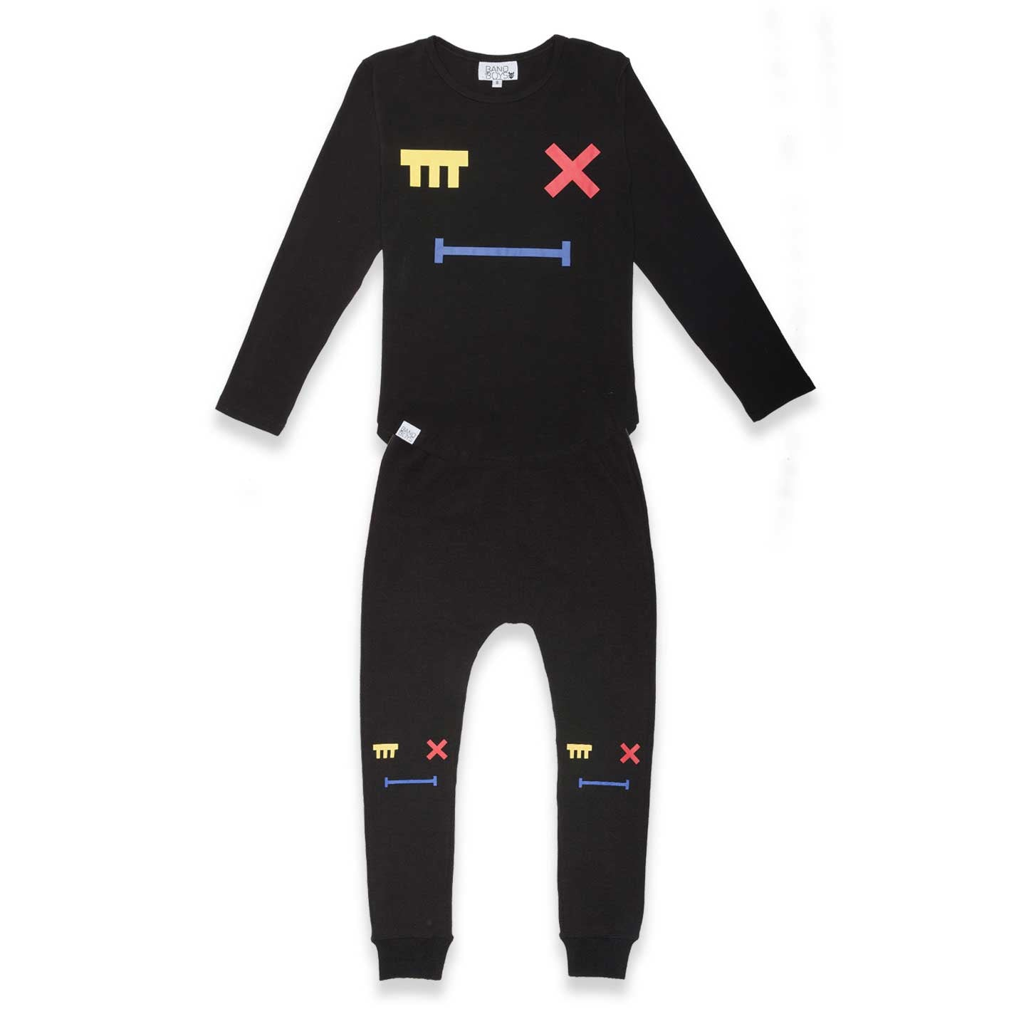 Cross Eye pj's Black