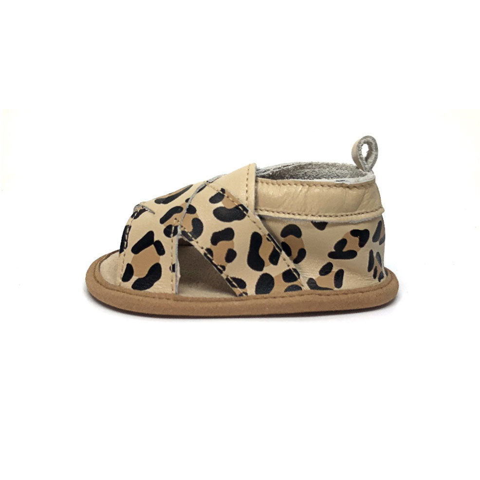 Cross Over Baby Sandal Leopard