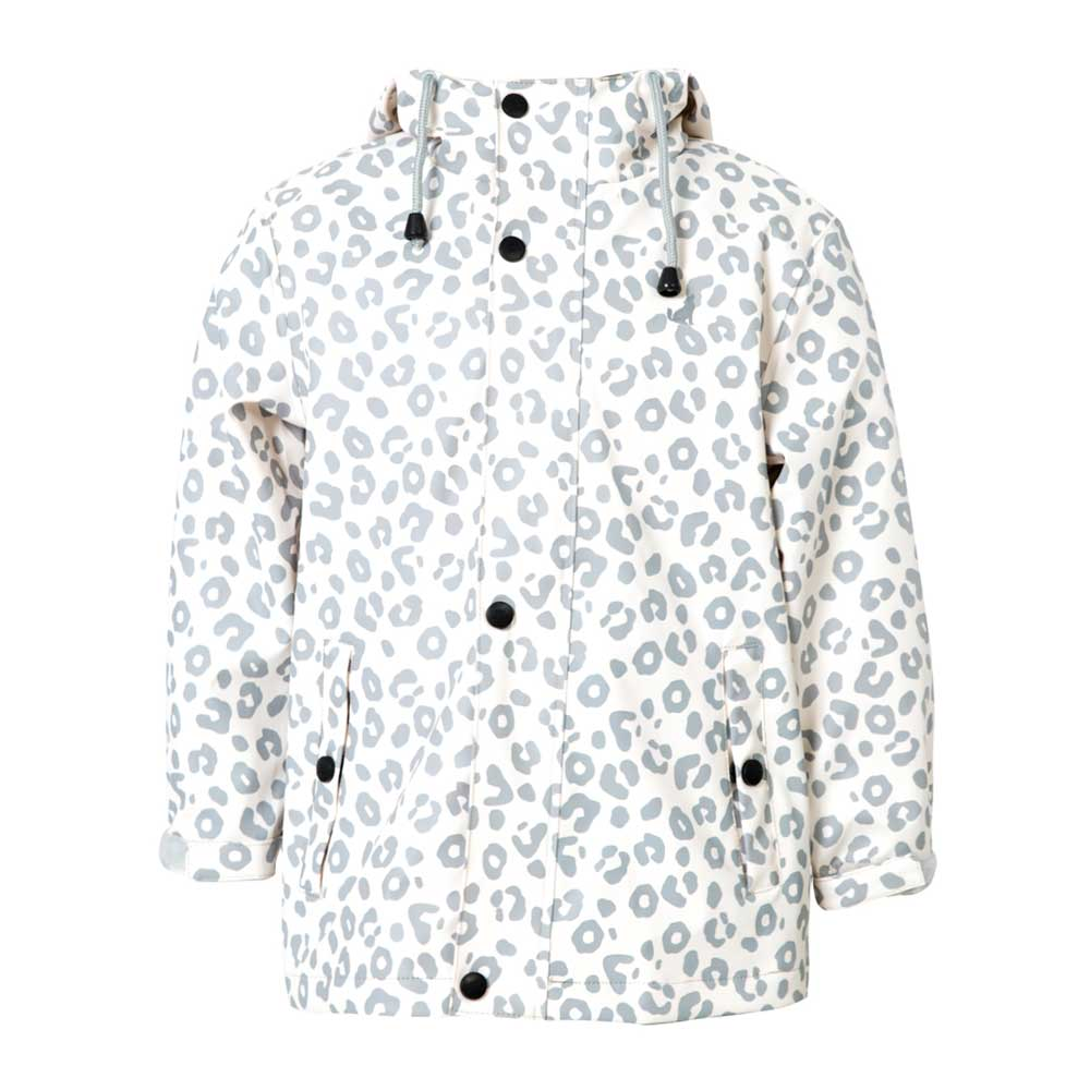 Womens Grey Leopard Rain Jacket