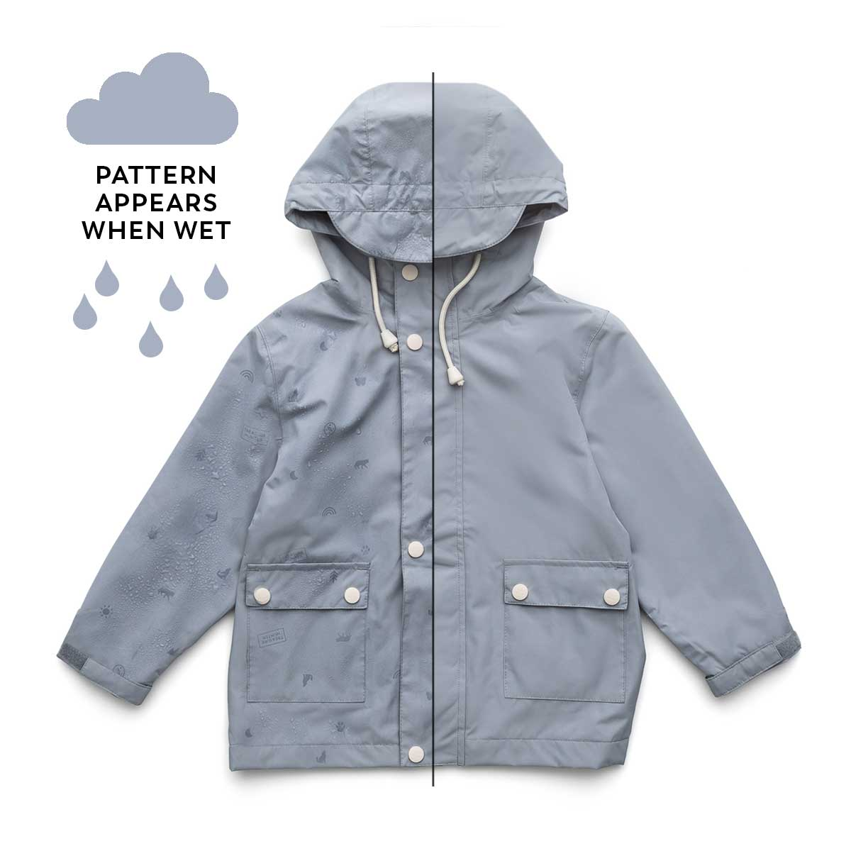 Hunter Blue Magic Rain Jacket