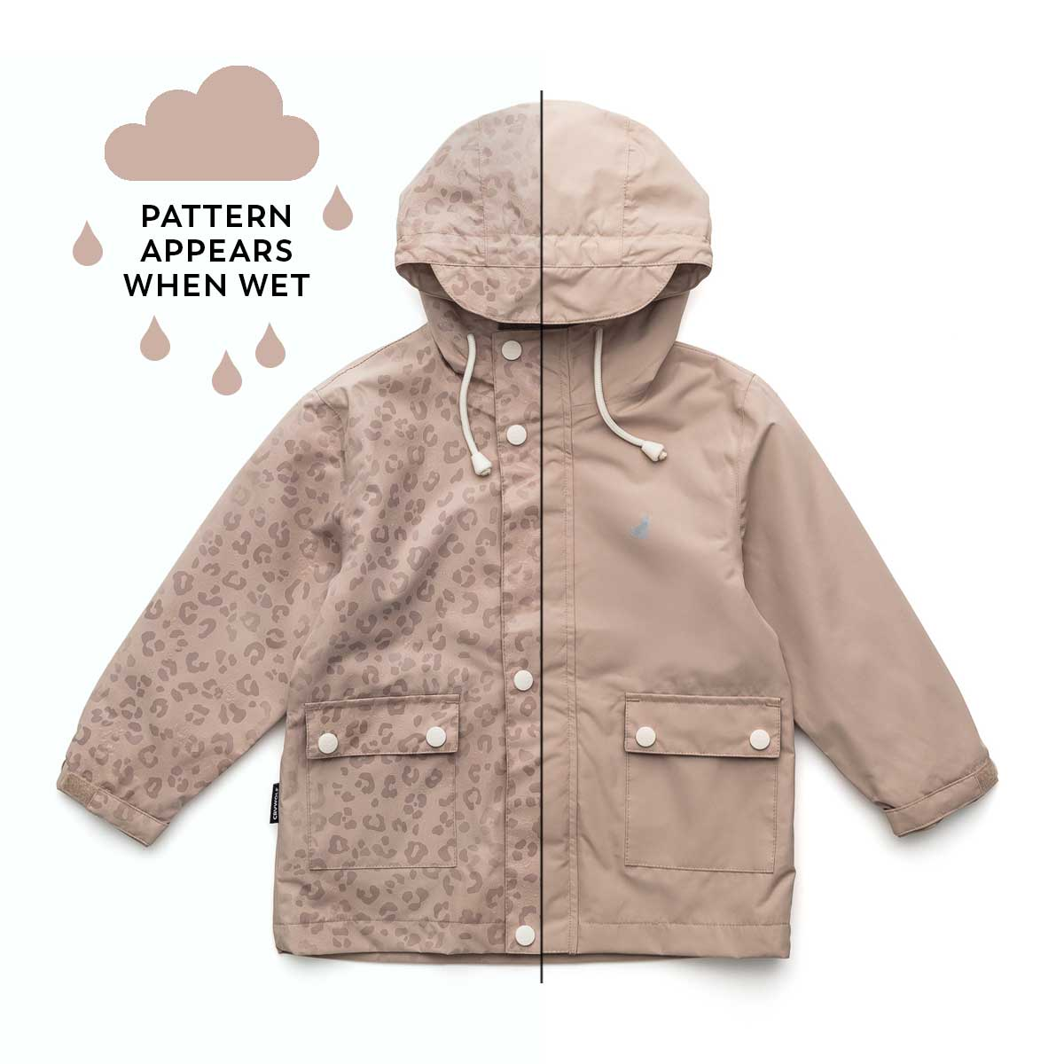 Leopard Taupe Magic Rain Jacket