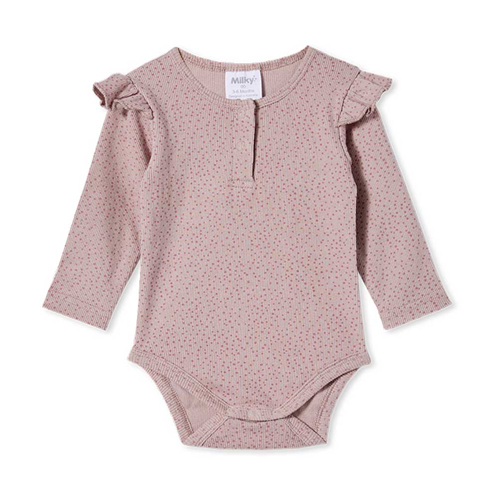 Rib Bubbysuit Dusty Lilac