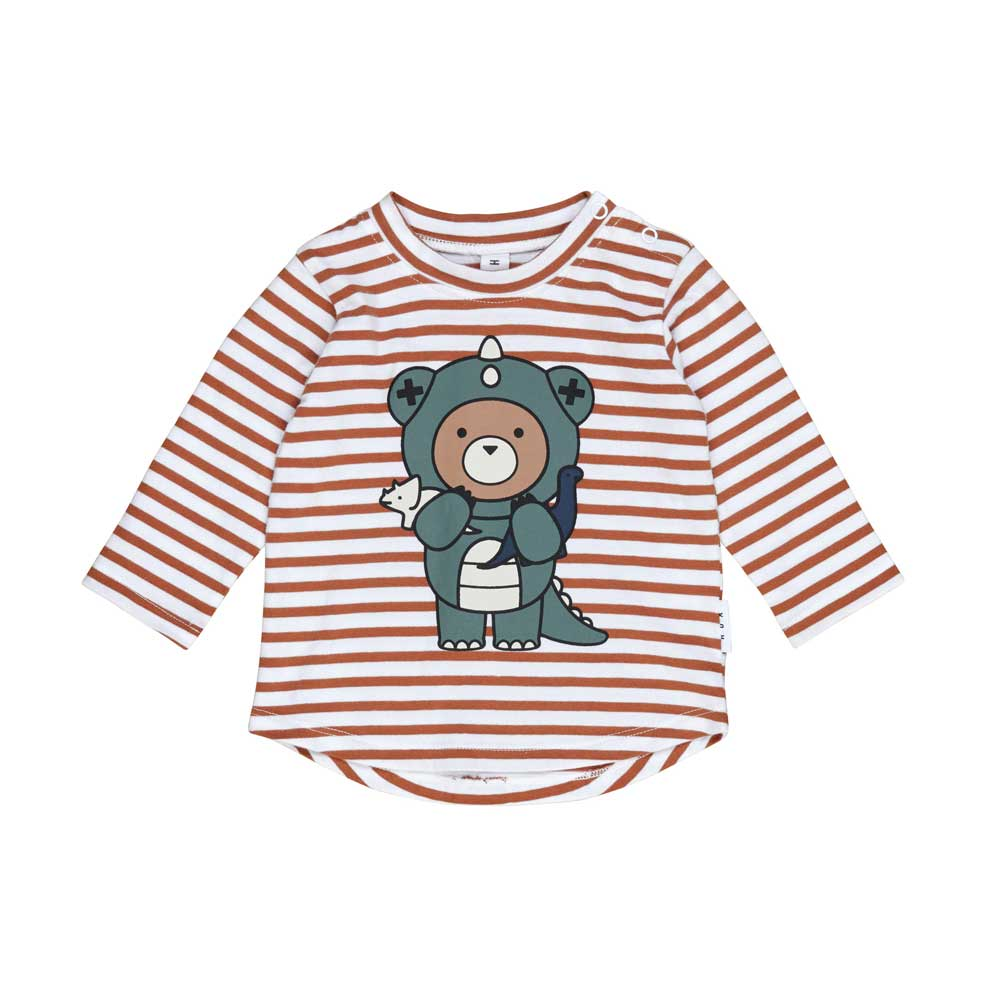 Dino Bear Stripe Top