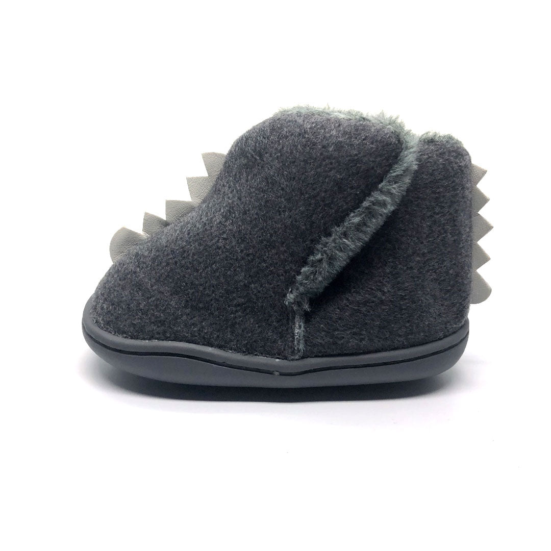 Dino Grey Fleece Baby Boot
