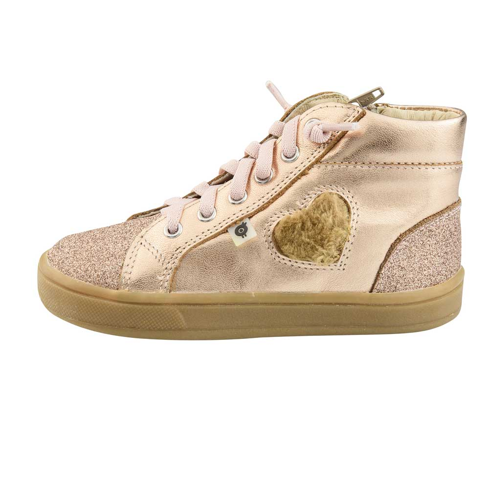 Glam Heart Toddler High Top Copper