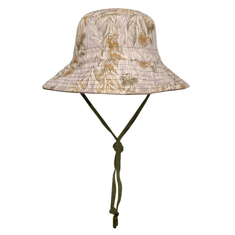 Kids Reversible Sun Hat Mallee/Olive