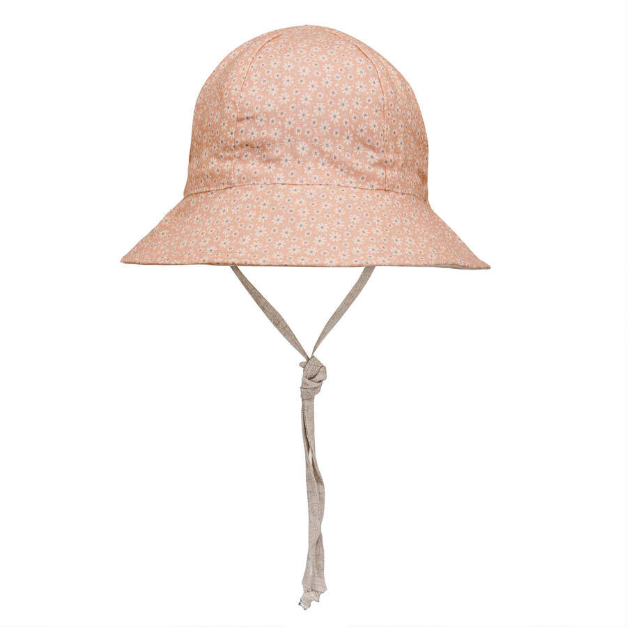 Girls reversible sun hat Polly/Flax