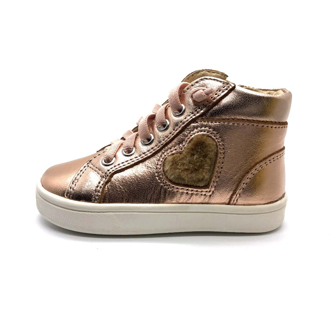 Heart Felt High Top Toddler Boots Copper