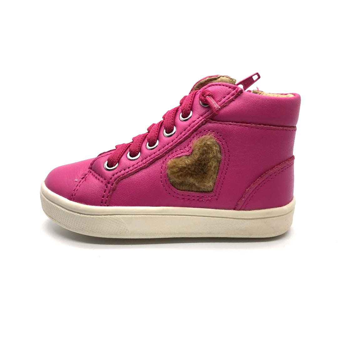 Heart Felt Toddler High Top Boots Fuchsia