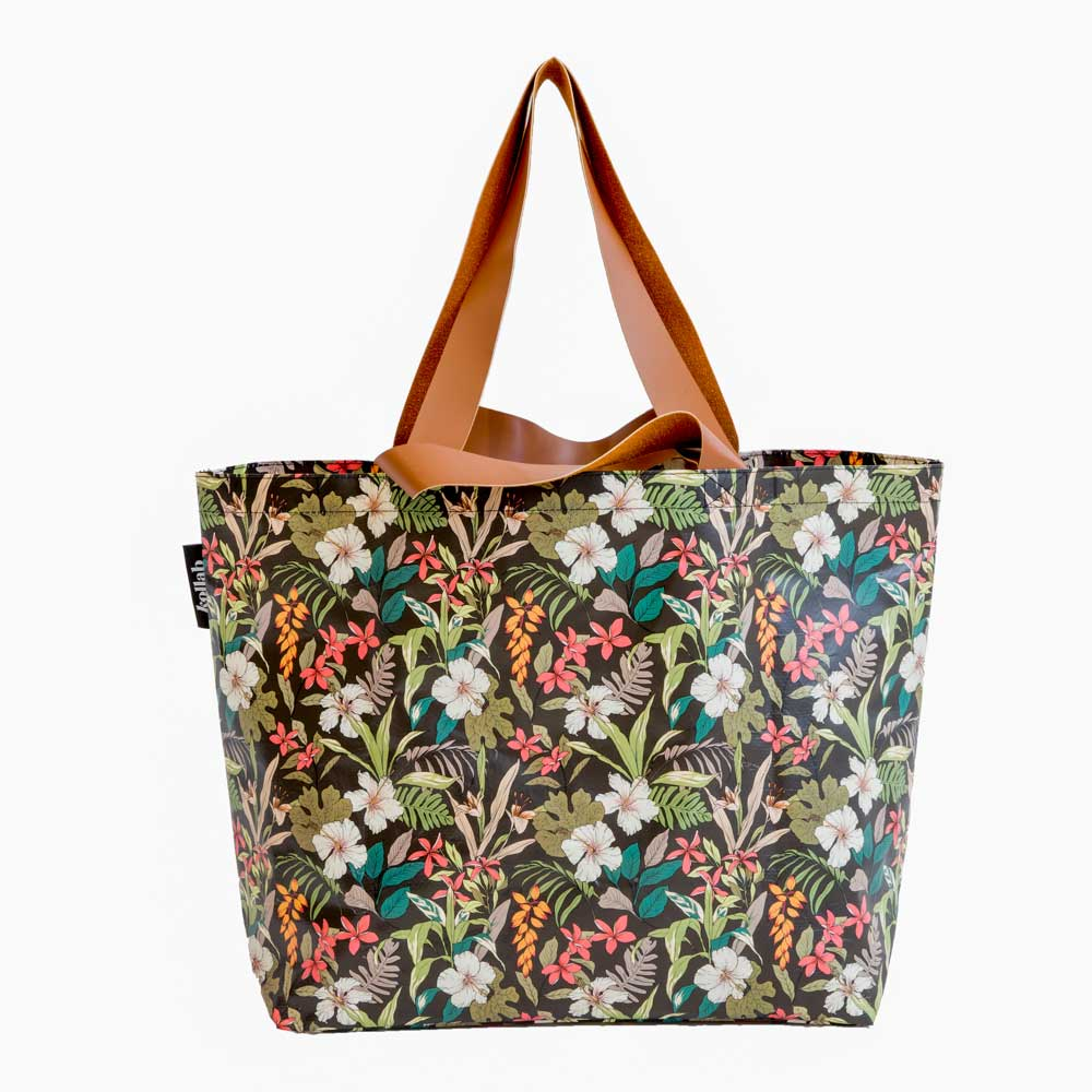 Poly Shopper Tote Hibiscus