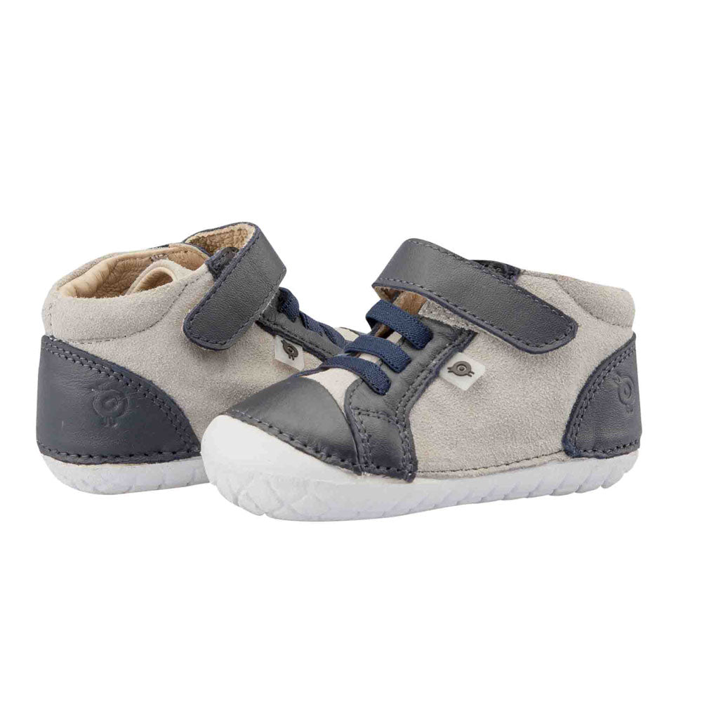 High Pave Toddler Shoe Grey Suede/Navy