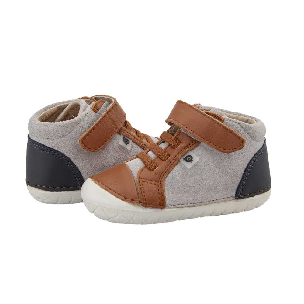 High Pave Toddler Shoe Tan/Navy/Grey