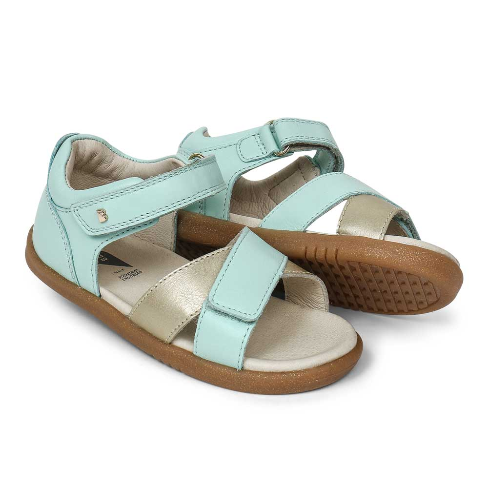 Step Up Sail Sandal Mint + Gold