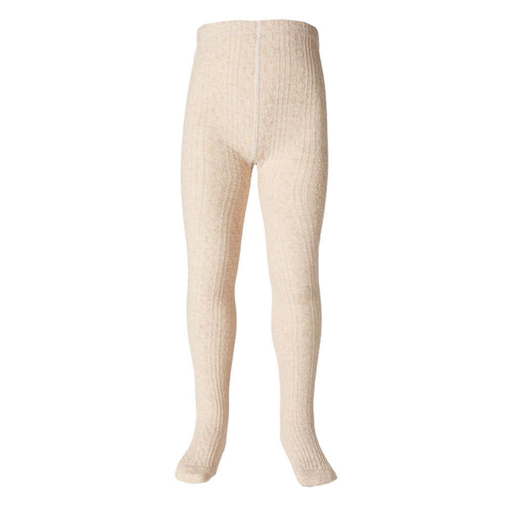 Jacquard Tights Oatmeal