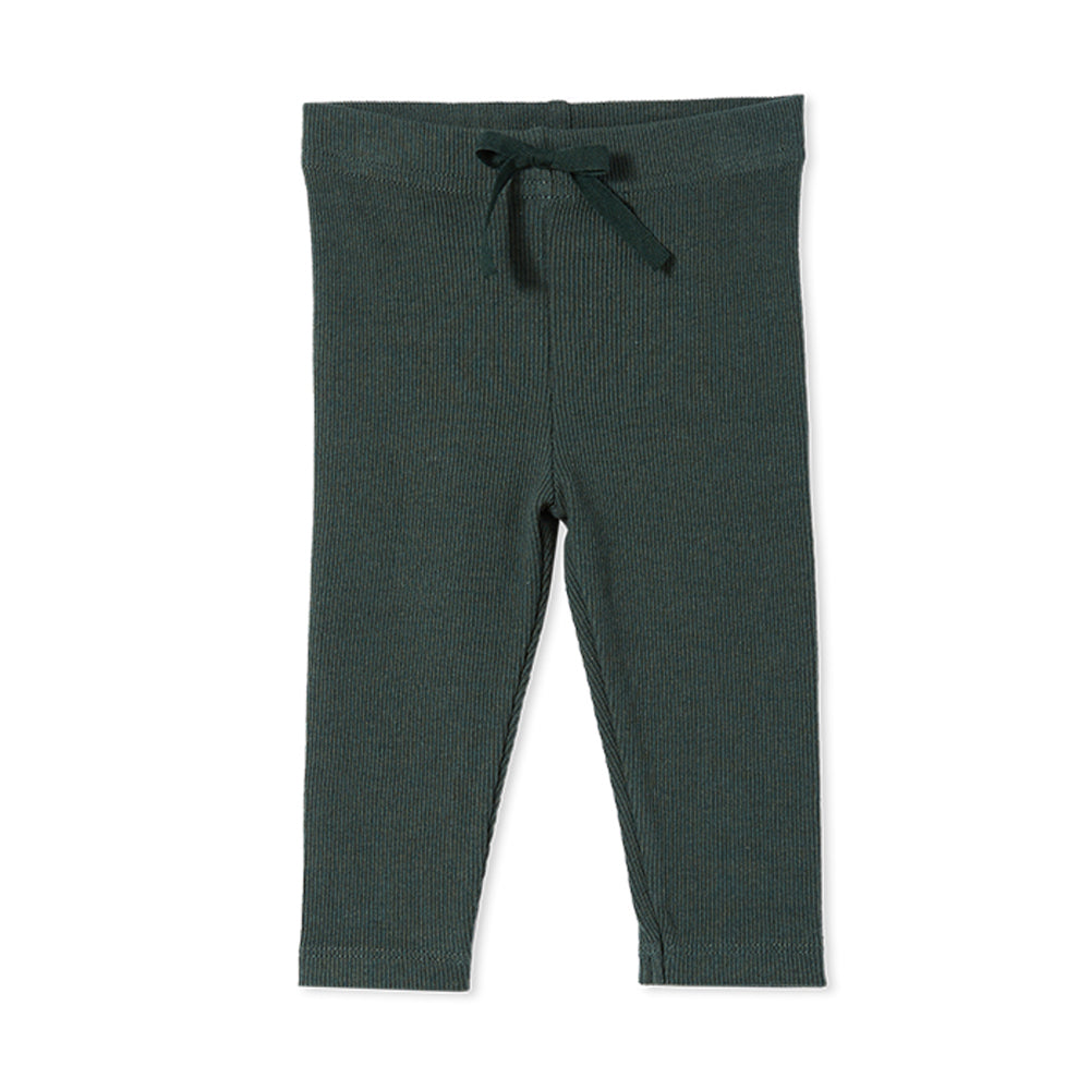 Rib Baby Pant Jungle Green
