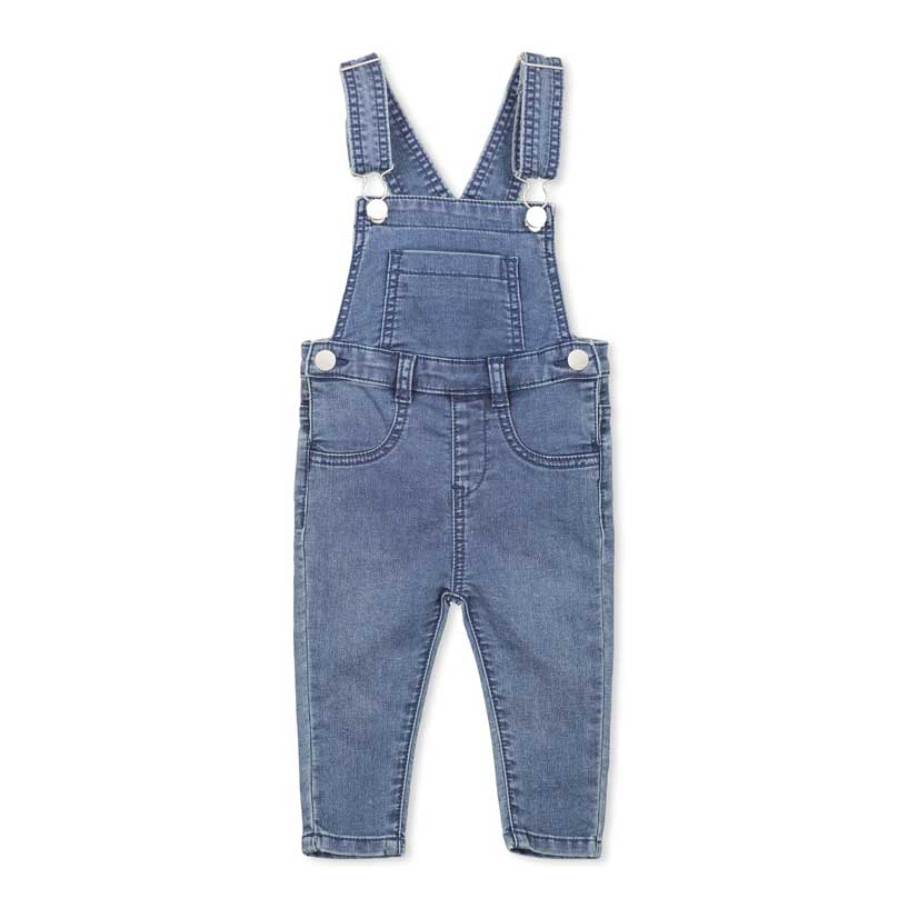 Knit Denim Overall