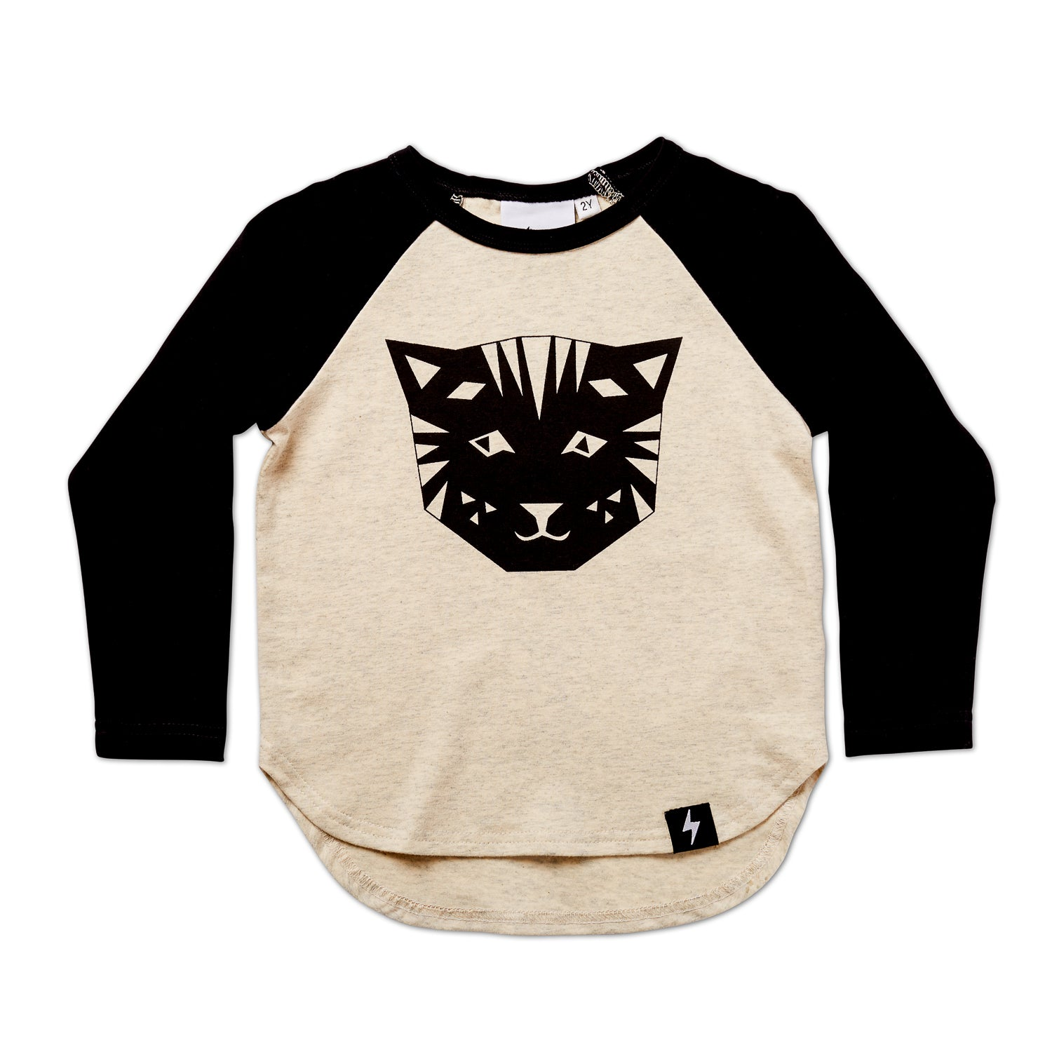 Tiger Long Sleeve Drop Back Raglan Tee