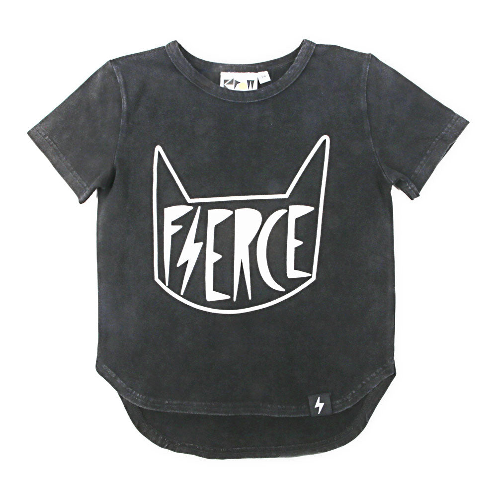 Fierce Drop Back T-Shirt Acid Wash