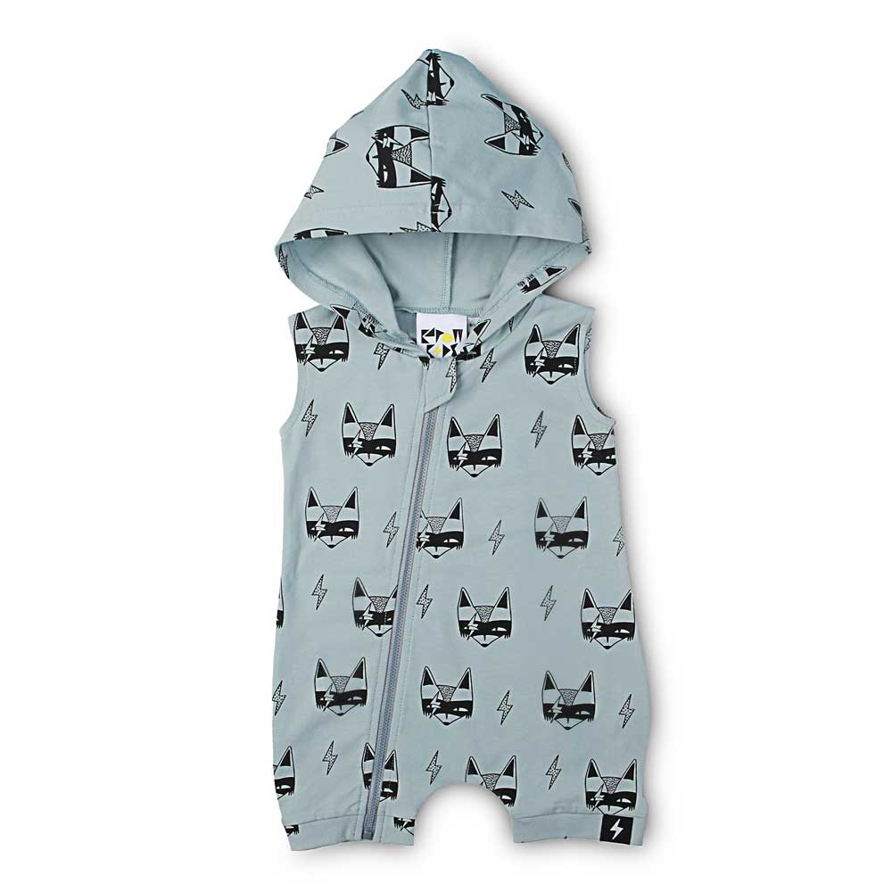 Super Fox  Hooded All in One