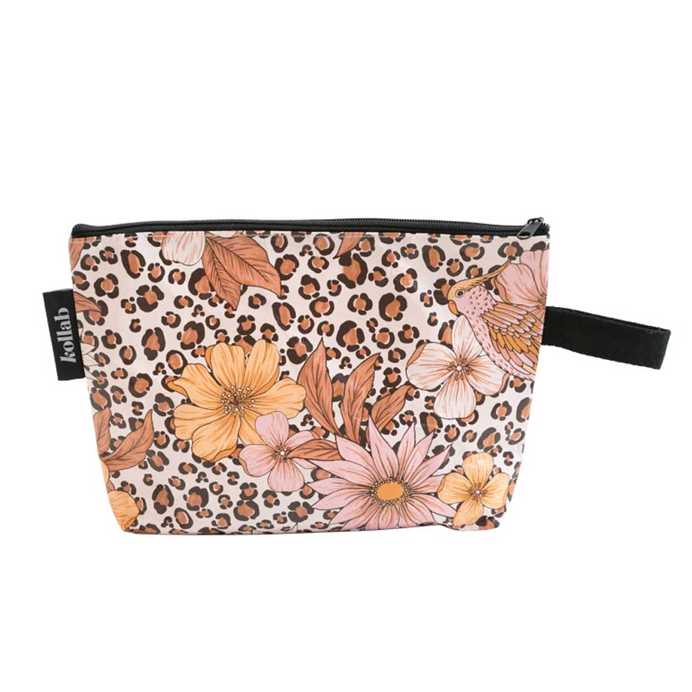 Poly Clutch Leopard Floral