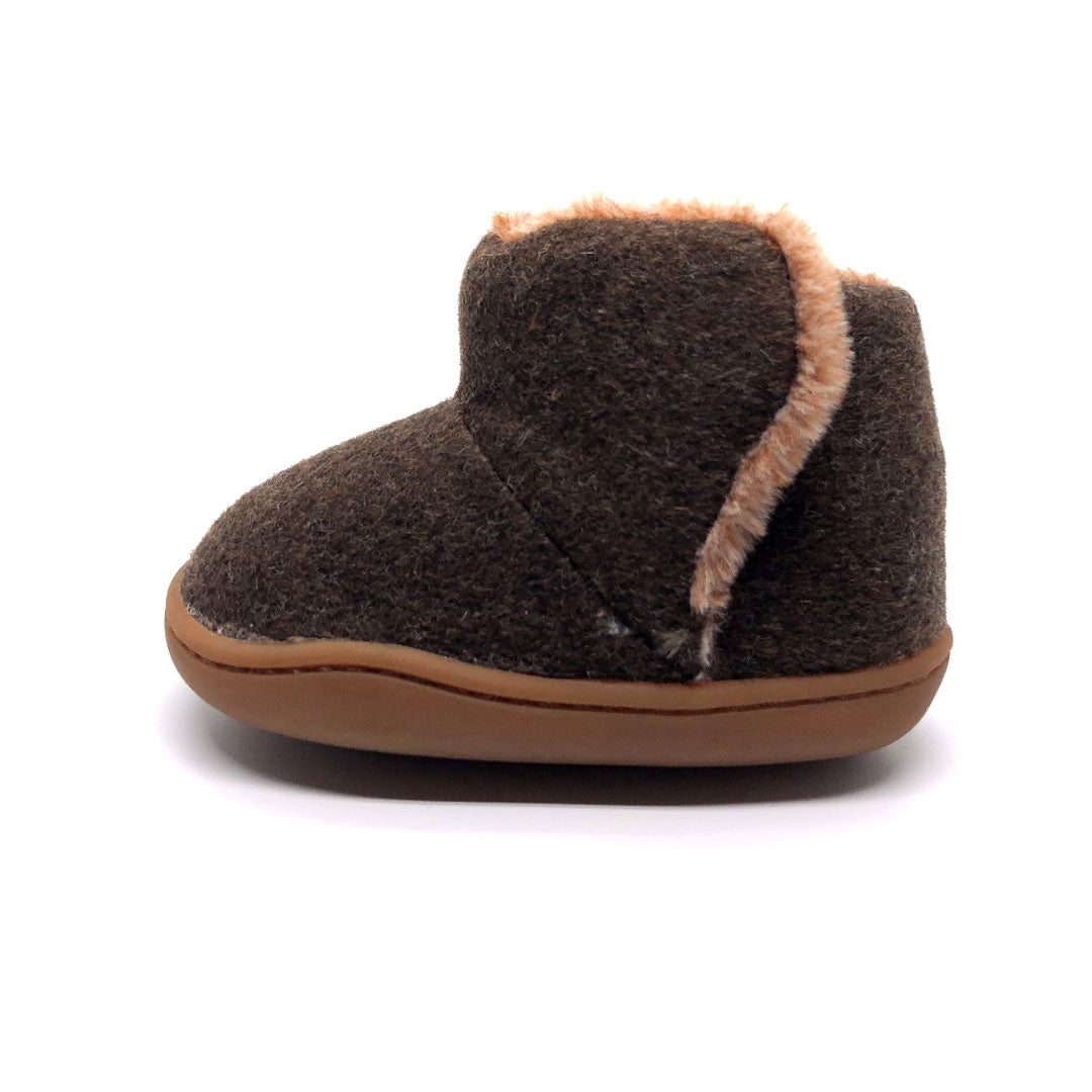 Liam Brown Fleece Baby Boot
