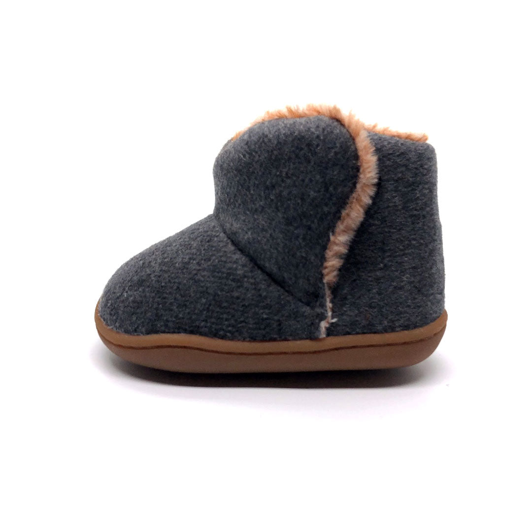 Liam Grey Fleece Baby Boot