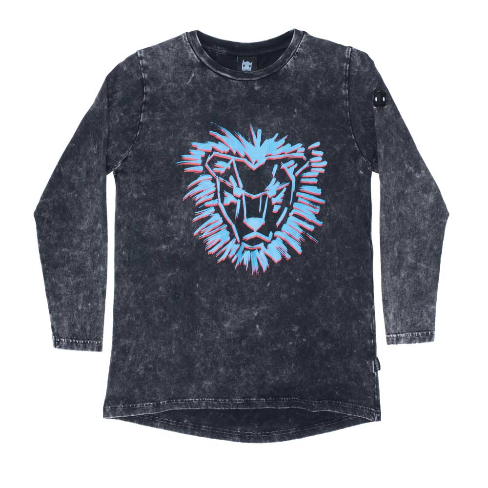 Long Sleeve Lion Mane Scoop Tee