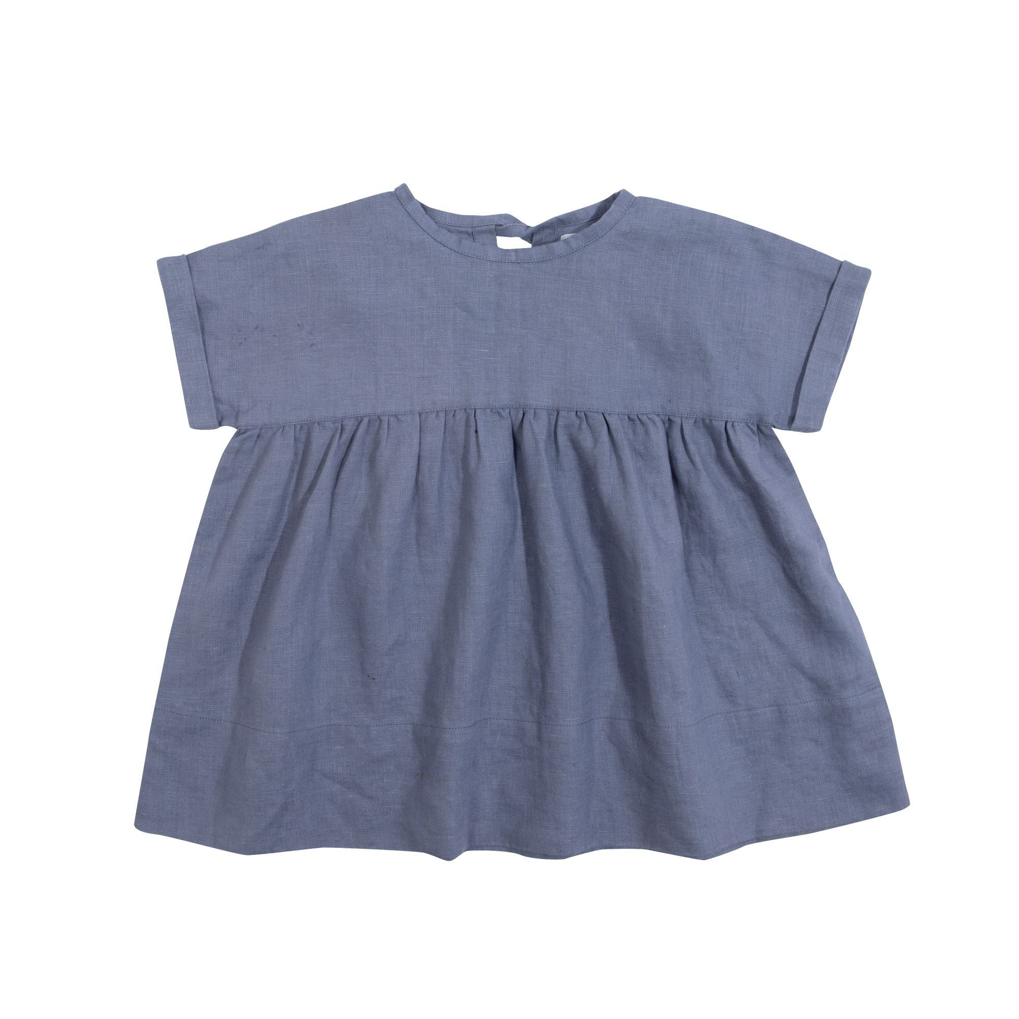 Lulu Linen Dress Indigo